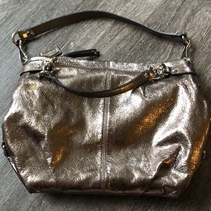 Lightly used Coach Silver/Gold Brooke purse